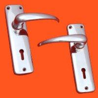 Zinc Die Cast-Crome Plated Door Handle Plates