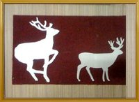 Deer Pair Wooden Wall Hanging