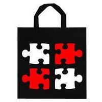 Black Colored Designer Promotional Bag