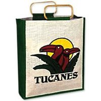 Jute Bag With Wooden Handle