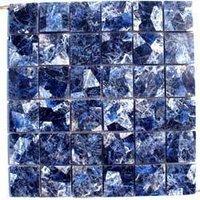 Semi Precious Sodolite Mosaic Tiles