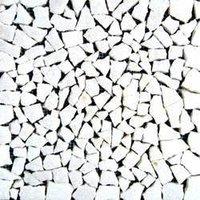 White Marble Small Crazy Mosaic Tiles