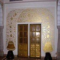 Gold Leaf Design Work Painting