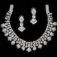 Diamond Studded Necklace Set