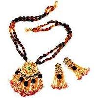 Stoned Studded/ Beaded Necklace Set