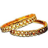 White Stone Studded Jadtar Bangle