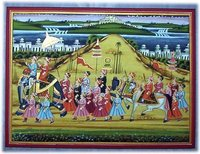 Designer Savari Paintings On Silk