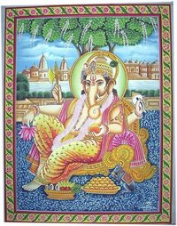 Ganesh Ji Cotton Paintings