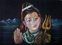 Lord Shiva Velvet Paintings