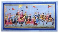 Savari Paintings On Silk