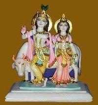 Marble Radha Krishana Sculptures