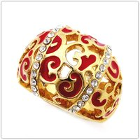 Promotion New Arrival Fashion Jewelry Gold Plated Ring