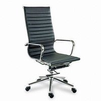 Office Chair With Chrome/Steel Finish