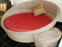 Outdoor Rattan Round Beds