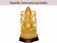 Wooden God Ganesha Statues