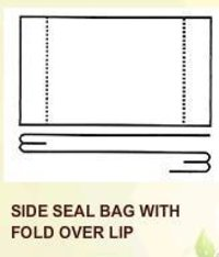 Side Seal Bio Degradable Bags With Fold Over Lip
