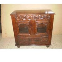 Wooden Carved Console Cabinet