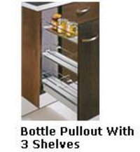 Bottle Pullouts With 3 Shelves