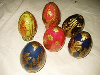 Papier Machie Easter Eggs