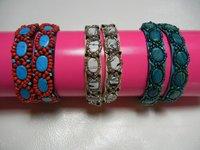 Stone Embroidered Bracelets