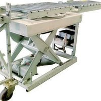 Hydraulic Scissor Lift With Conveyor And Universal Rotator