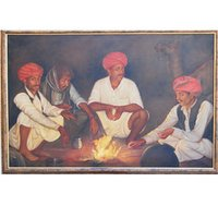 Rural Rajasthani Oil Paintings