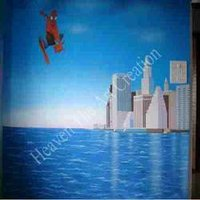 Spider Man Painting On Wall