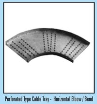Horizontal Elbow/Bend Perforated Type Cable Tray
