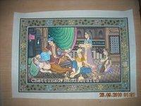 Silk Painting (Mughal)
