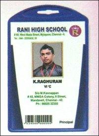 School Plastic Sticker Card