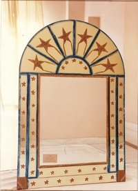 Decorative Mirror With Glass Paintings