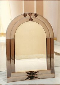 Designer Mirror With Glass Paintings