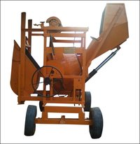 Concrete Mixer With Hydraulically Operated Hopper And Lift