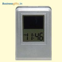 Lcd Clock With Flashing Logo