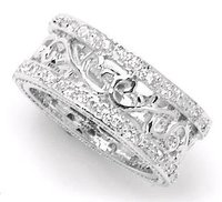 Designer Platinum Eternity Band