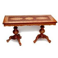 Rectangular Wood Crafted Table