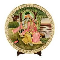 Painting On Marble Plate
