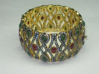 Gold Plated Victorian Bangle