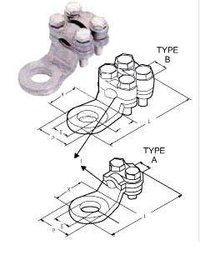 Mechanical Cable Lugs - Bolted With 2 Screws And 4 Screws