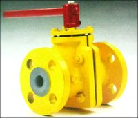 Ms/ Fep Lined Ball Valve