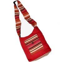 Exclusive Design Handmade Jute Maroon Shoulder Bag in Jaipur