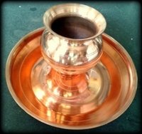 Copper Thali Lota Set