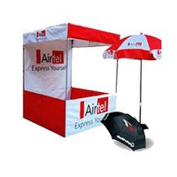 Kiosk And Umbrellas