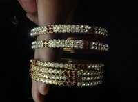 Gold Plated Ladies Stone Bangles