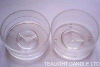 Plastic Clear Tea Light Cups