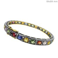 Diamond Multi Sapphire Bangle Jewelry