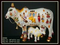Hand Painted Kamdhenu Cow