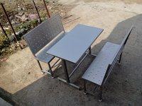 Canteen Dining Table With Benches