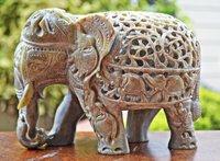Marble Elephant Figurine