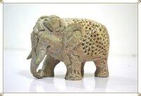 Marble Elephant Sculpture